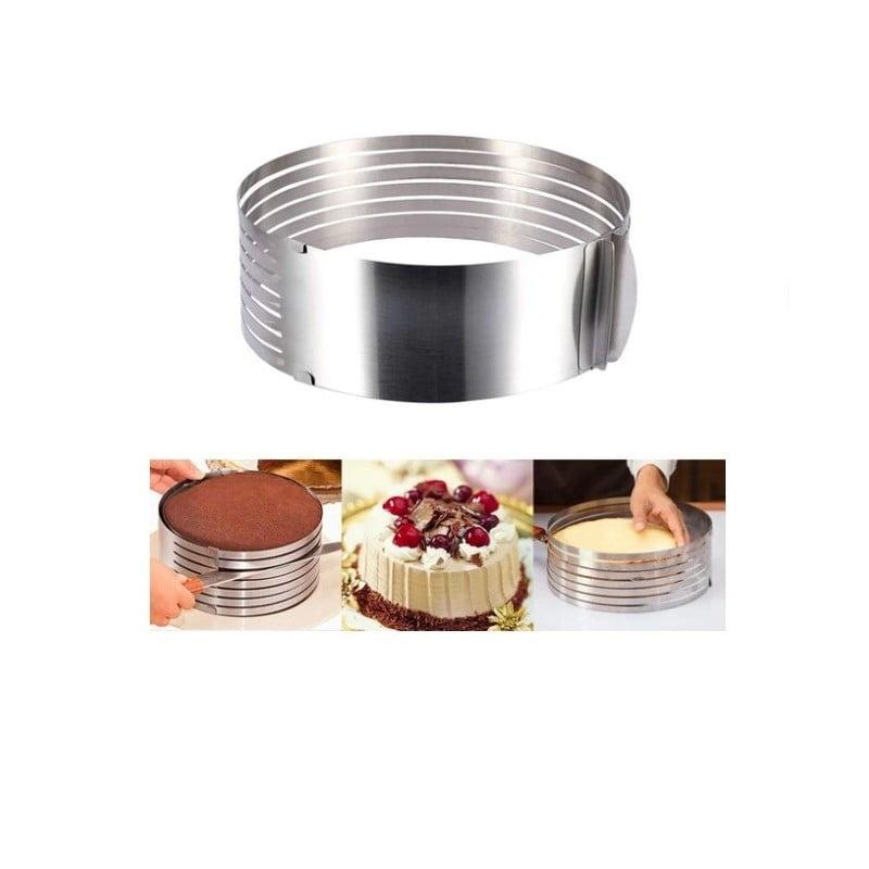 Inel ajustabil din inox pentru tort cu 6 spatii pentru